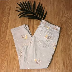 Bandolino Mandie cropped slim floral print jeans